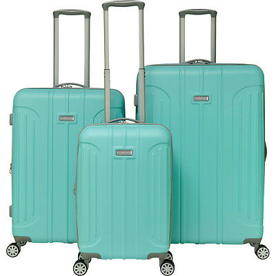 Gabbiano Viva 3 Piece Expandable Hardside Spinner Luggage Set NEW