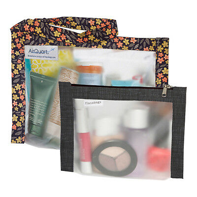 Flanabags TSA Travel Duo - Approved Clear Carry-on Travel Organizer NEW