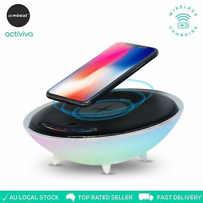 ActiVIVA Wireless Charging Stand RGB Colour Base Pad Smartphones Home Office