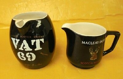 Early Vat 69 & Macleay Duff Wade Whiskey Jugs Made In England