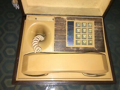 Antique Phone in a Box- with Pattern of Dog on outside