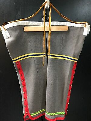 Woodlands Southeastern Rendezvous Mountain Man Mens Cloth Half Leggings Native