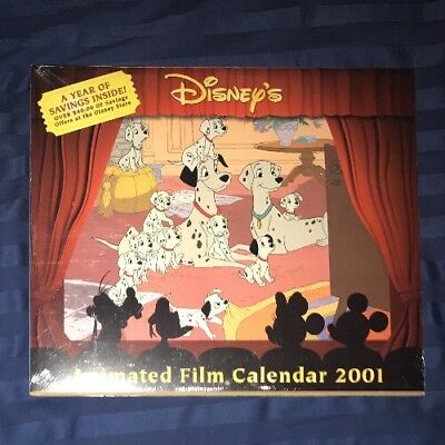 Disney's Animated Film 15 Month Calendar 2001 New Factory Sealed