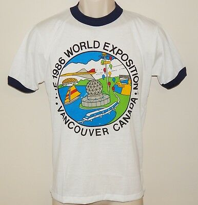 1986 World Exposition Adult Medium Vancouver Canada T Shirt Vtg New
