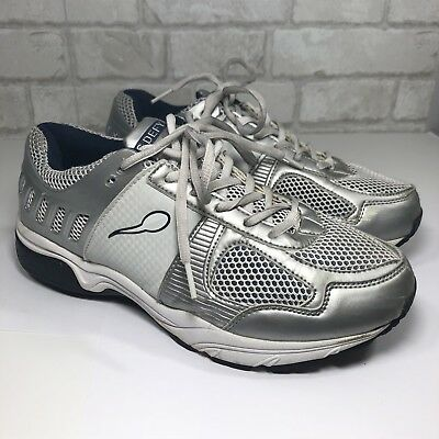f223d27c9a8ca G-DEFY GRAVITY DEFYER PAIN RELIEVING Athletic Sneakers Sz 8.5 Silver/White  (F2)