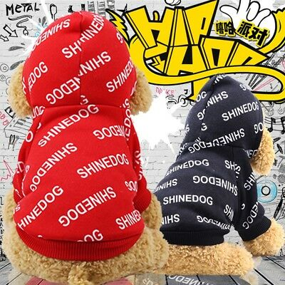 Puppy Pet Dog Cat Clothes Hoodie Hooded Winter Warm Sweater Coat Costume Apparel