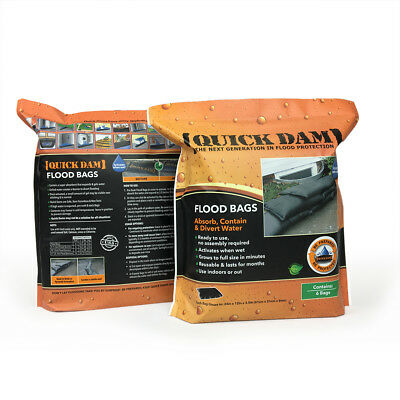 Quick Dam Sandless Sandbags Flood Protection 1ft x 2ft - 6 pack