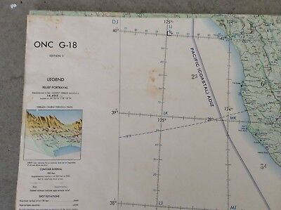 Operation navigation charts G-18 and F-16 ( 1960's and 70's) set of 2