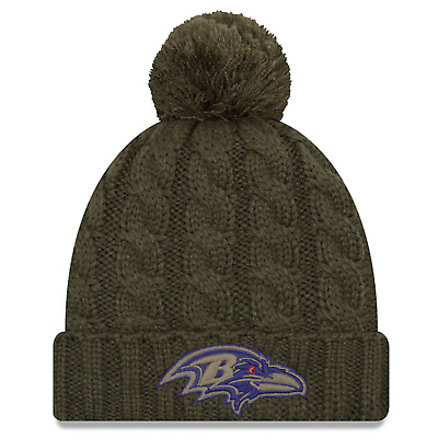 New Era Baltimore Ravens Woman s Salute To Service Knit Hat 2018 ba4df0a01c0