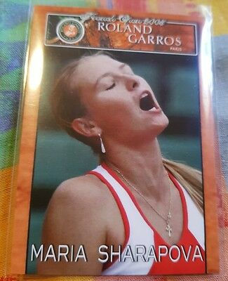Maria SHARAPOVA 2005 French Open Roland Garros Limited Edition card #01/10