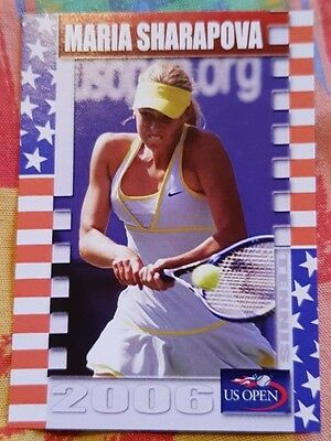 Maria SHARAPOVA 2006 US Open Collector Edition card #11/25 Tennis