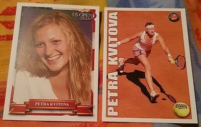 Petra KVITOVA 2-cards LOT Pro Net Limited Edition French Open 1/10 US Open 1/10