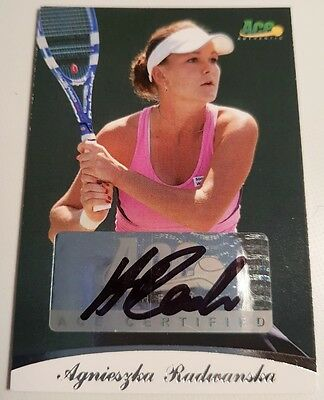 Agnieszka RADWANSKA Ace Authentic Memorabilia Autograph card #79/85 Auto Tennis