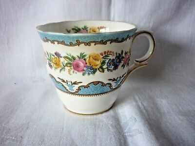 Crown Staffordshire  Blue Lyric Tunis Tea Cup