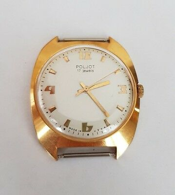 Poljot 1973 Ussr Vintage Watch 17 Jewels  Au 10  Very Rare#65