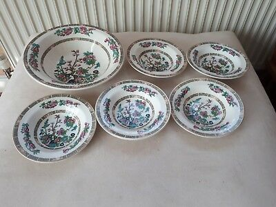 Indian Tea Tree China .lord Nelson Pottery. 1 X Large Dish + 5 X Bowls.