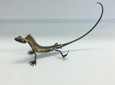 Vintage Miniature Solid Silver (tested) Lizard Figure 9cm In Length