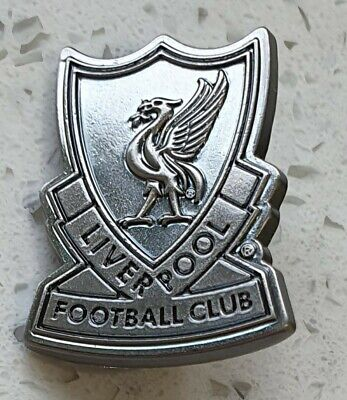 Liverpool Official Pin Badge - Silver Shield with Liverbird - Great Gift Idea