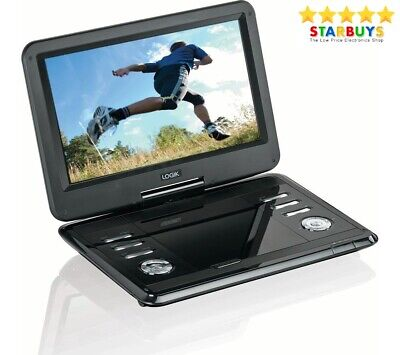 Logik L12SPDVD17 Portable DVD Player 12 Inch Used Swivel Screen in Car Charger