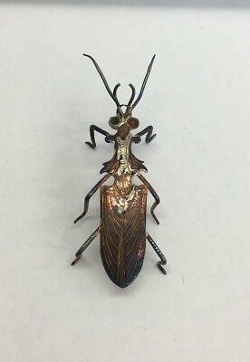 Vintage Miniature Solid Silver (tested) Bug Figure 6cm In Length