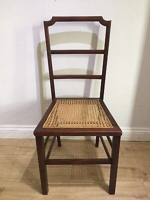 Bergere Cane Hall Chair, Bedroom Chair, Wooden, Antique