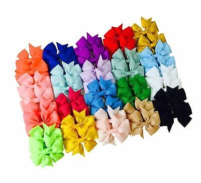 Big Elephant 40 Pcs 3 Inch Kids Baby Girls Fashion Hair Bows Clips Hair Acces...