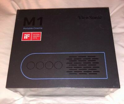 Viewsonic M1 3D Ready Short Throw DLP Projector - 480p - EDTV - 16:9 New