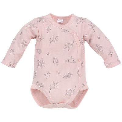 Baby Girl 100% Cotton Cute Bodysuit Long Sleeve Pink Grey Print 3-6 Months