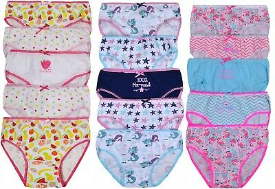 Girls Five Pack Pants Briefs Knickers Underwear Three Options 2-3 Up To 13  Years 0e82df108