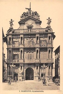 Spain Pamplona Ayuntamiento Town Hall Front view