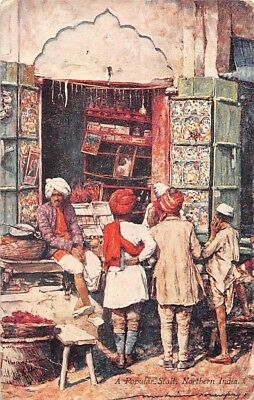 Native Life in India, Northern India, A Popular Stall, by Mortimer Menpes Signed