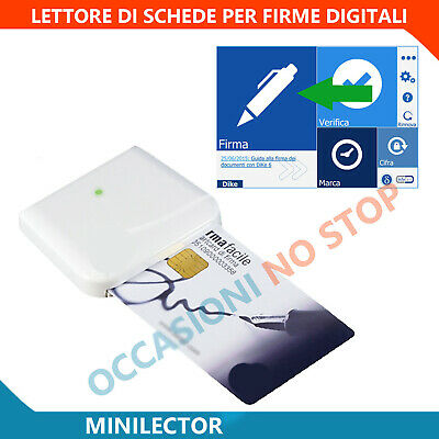 Lettore smart card Firma Digitale MiniLector CNS CRS