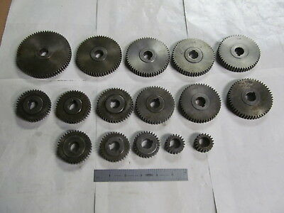 "Set Of Timing Gears For Brown & Sharpe ""00"" Screw Machine (16) Gears, Usa Made"
