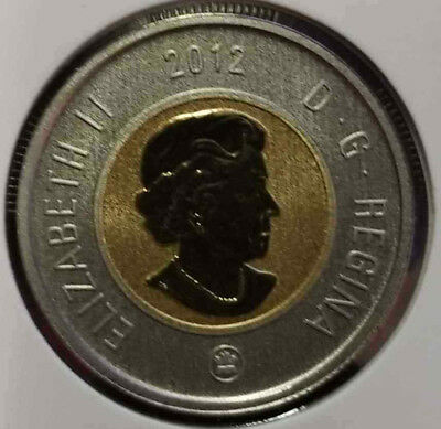 2012 Canada $2 Toonie Specimen - Uncirculated from set