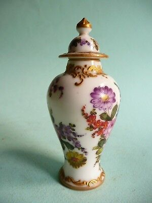 Antique Meissen Miniature Lidded Vase.....................ref.1284