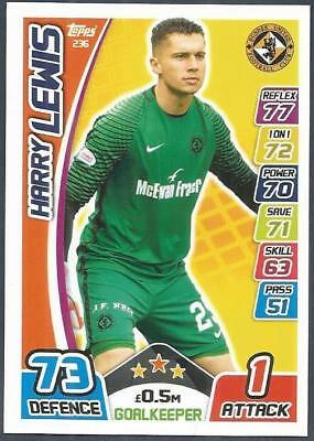 Topps Match Attax Spl-2017-18- #236-Dundee United-Harry Lewis