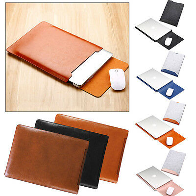 "Luxury Envelope Leather Sleeve Bag Case Cover for 11.6"" 12.1"" 13.3"" 14"" Notebook"