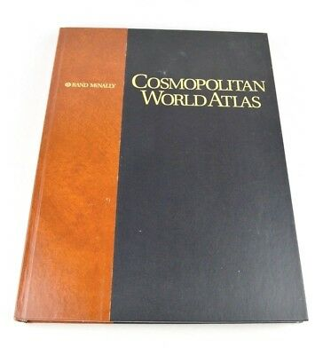 Rand McNally Cosmopolitan World Atlas 1995 Excellent Colorful Maps