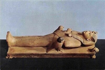 Egypt Tutankhamen (Third Set) Image of the King on his Funerary Bed, Carved Wood