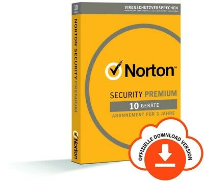 NORTON Internet SECURITY PREMIUM 10-Geräte/3-Jahre 2018/2019 PC/Mac/Android/ KEY