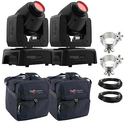 Chauvet DJ Intimidator Spot 110 LED DMX Moving Head 2 Pack w/ Cases & Clamps