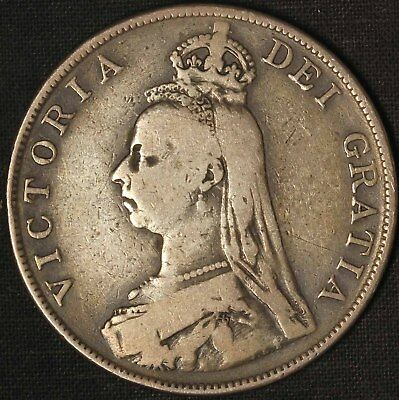 1888 Great Britain Silver Double Florin - Free Shipping USA