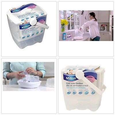Milton Cold Water Sterilizer for Baby Bottles with 24 hours Capacity Easy Carry