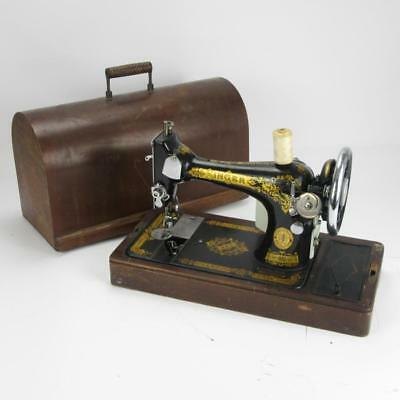 Ornate Vintage Singer Sewing Machine EC Series Electric Retrofit Sewing Machine