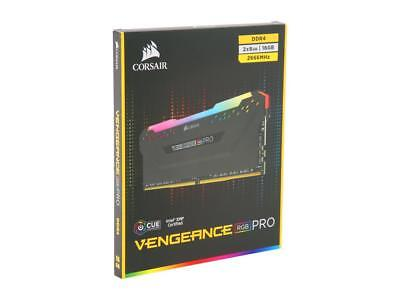 CORSAIR Vengeance RGB PRO 16GB (8GBx2) PC4-21300 DDR4 2666Hz Desktop Ram Memory