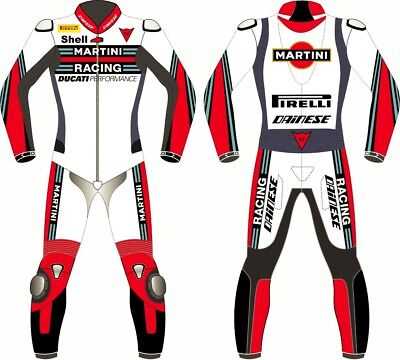 MARTINI Motorbike Racing Leather Suit For Men's all Sizes Available