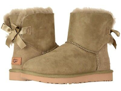 f9e16be8c852 WOMEN'S SHOES UGG MINI BAILEY BOW II Boots 1016501 ANTILOPE *New ...