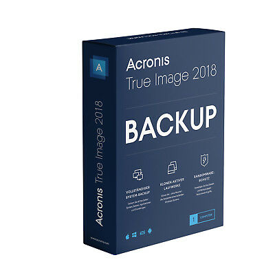 Acronis True Image 2018* 1-Gerät -  Backup - Windows / MAC  -  Box