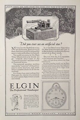 """1925 Ad(H14)~Elgin National Watch Co. Elgin, Ill. New """"corsican"""" Watch"""