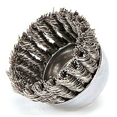 "WEILER 3AC09 2-3/4"" Knotted Wire Cup Brush 5/8"" Arbor Hole Mounting"